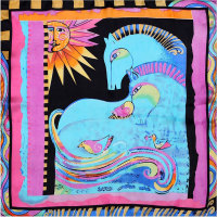 Guarantee 100 Silk Scarf Women Scarf Horse And Bird Silk Scarf Square Medium 85cm 2015 Female