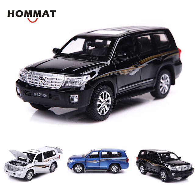US $17 54 29% OFF|HOMMAT Simulation 1:32 Toyota Land Cruiser SUV Off road  V8 Alloy Diecast Toy Vehicle Car Model Die Cast Metal Collection Gift-in