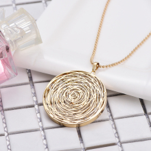 Creative Geometric Polished Metal Pendant Necklace