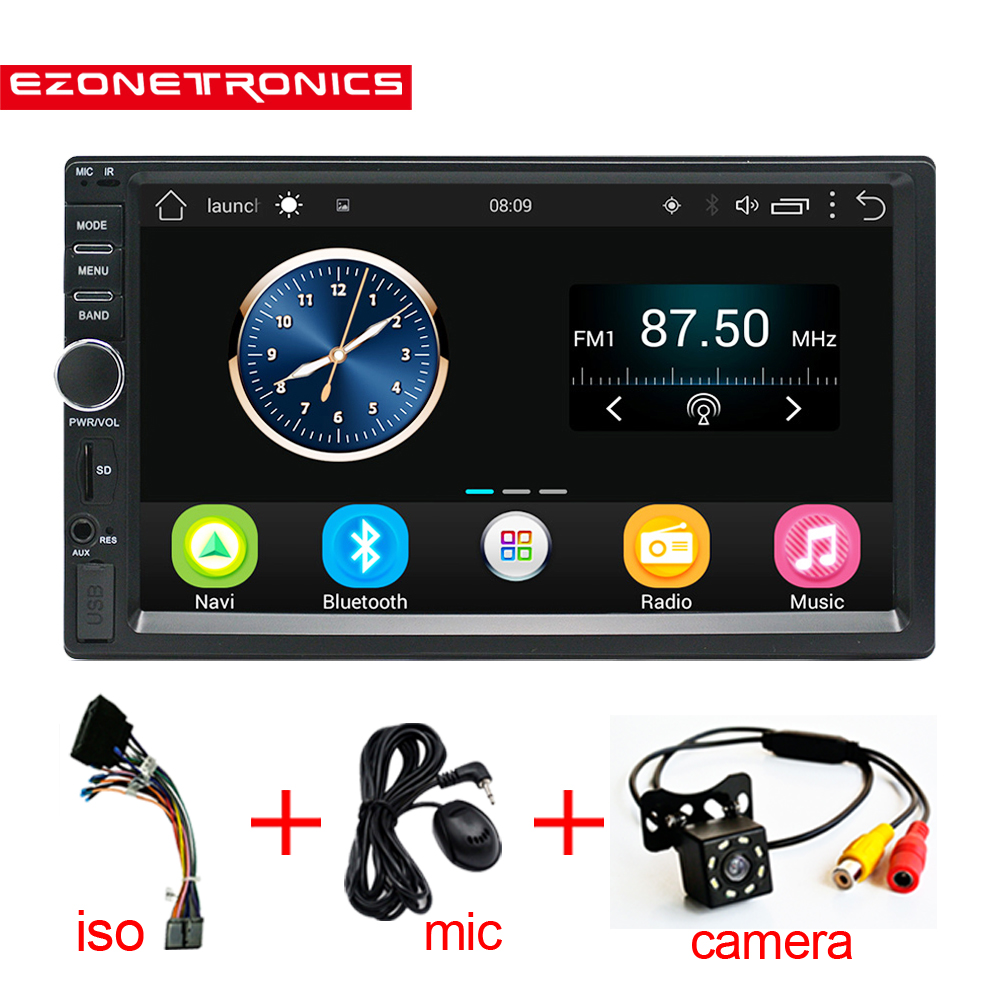 Auto 2 Din Android 6.0 Car Radio Stereo 7 1024*600 Universal Car Player GPS Navigation Wifi Bluetooth USB Radio Audio Player RU auto android 6 0 car audio gps navigation 2din car stereo radio car gps bluetooth usb universal interchangeable player tv 8g map