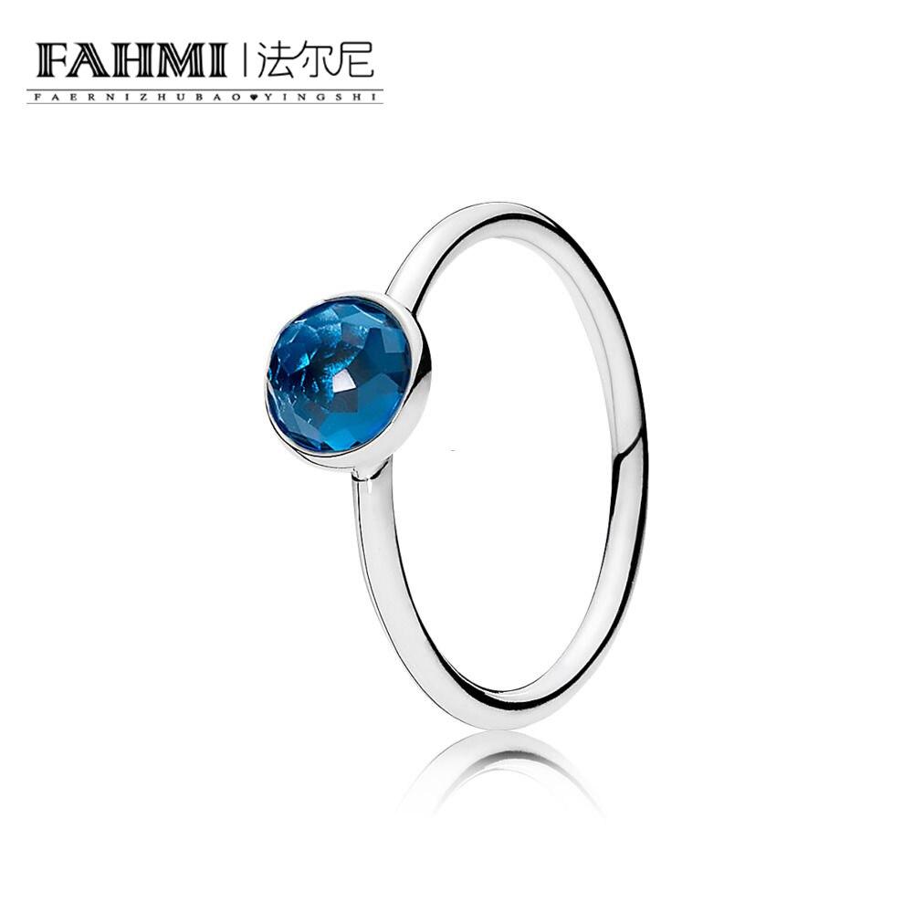 FAHMI 100% Sterling silver 1:1 Glamour 191012NLB DECEMBER DROPLET RING Original Women wedding Fashion Jewelry 2018 0