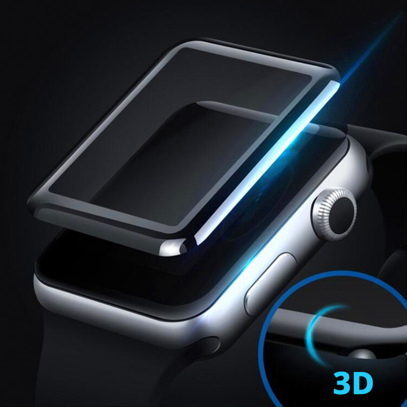 3D Glass Screen Protector Cover for Apple Watch 38mm 42 mm Mesh Tempered Glass Protective Film for Apple Series Watch 1/2/3 benks tempered glass for xiaomi 5 2 5d radians screen protector
