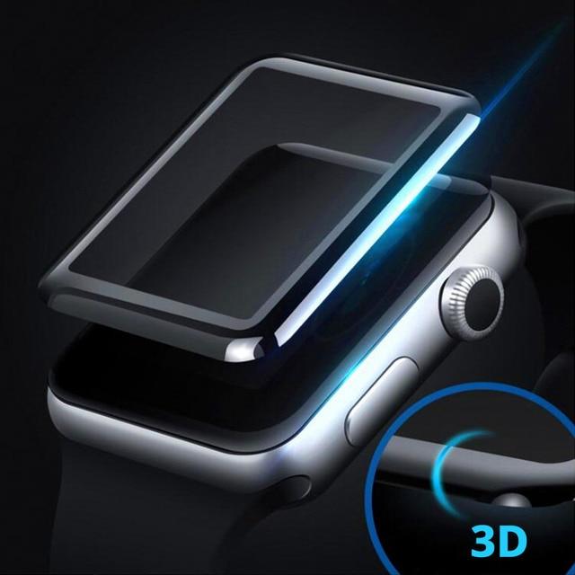 3D Protecteur D'écran En Verre pour Apple Montre 38mm 42mm Maille Trempé Verre De Protection Film pour Apple Série montre 1/2/3