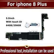 Originele unlocked 64GB 256GB Moederbord Voor iphone 8 Plus Volledige Chips Moederbord, voor iphone 8 P Logic Board met Touch ID