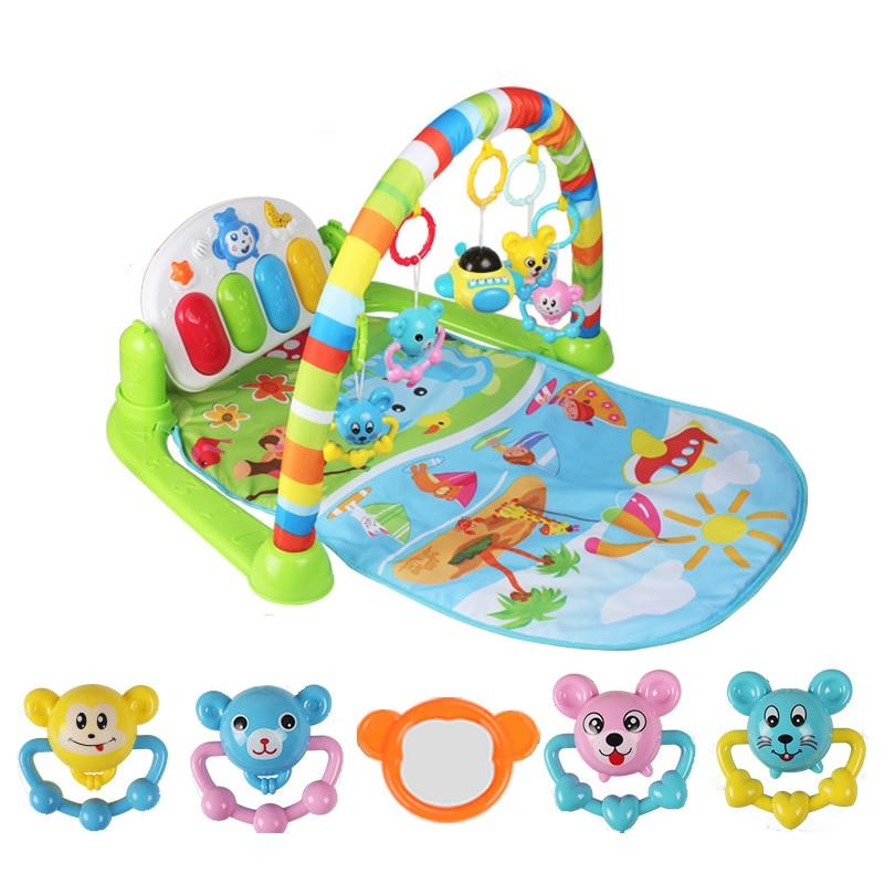 Bébé Piano musique Gym tapis jouets activité infantile enfants jouets sport Playmat jouets éducatifs Rack Gym doux bébé jouer tapis 0-36months - 3