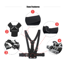 Vamson for Gopro Accessories Chest Strap Belt Body Tripod Harness Mount For Gopro Hero 5 4 3+for Xiaomi for Yi 4K Camera VP203