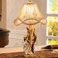 -Estilo europeu de luxo retro pavão lâmpada de casamento criativa candeeiro de mesa presentes de casamento lâmpada de cabeceira lâmpada quarto aconchegante dimme