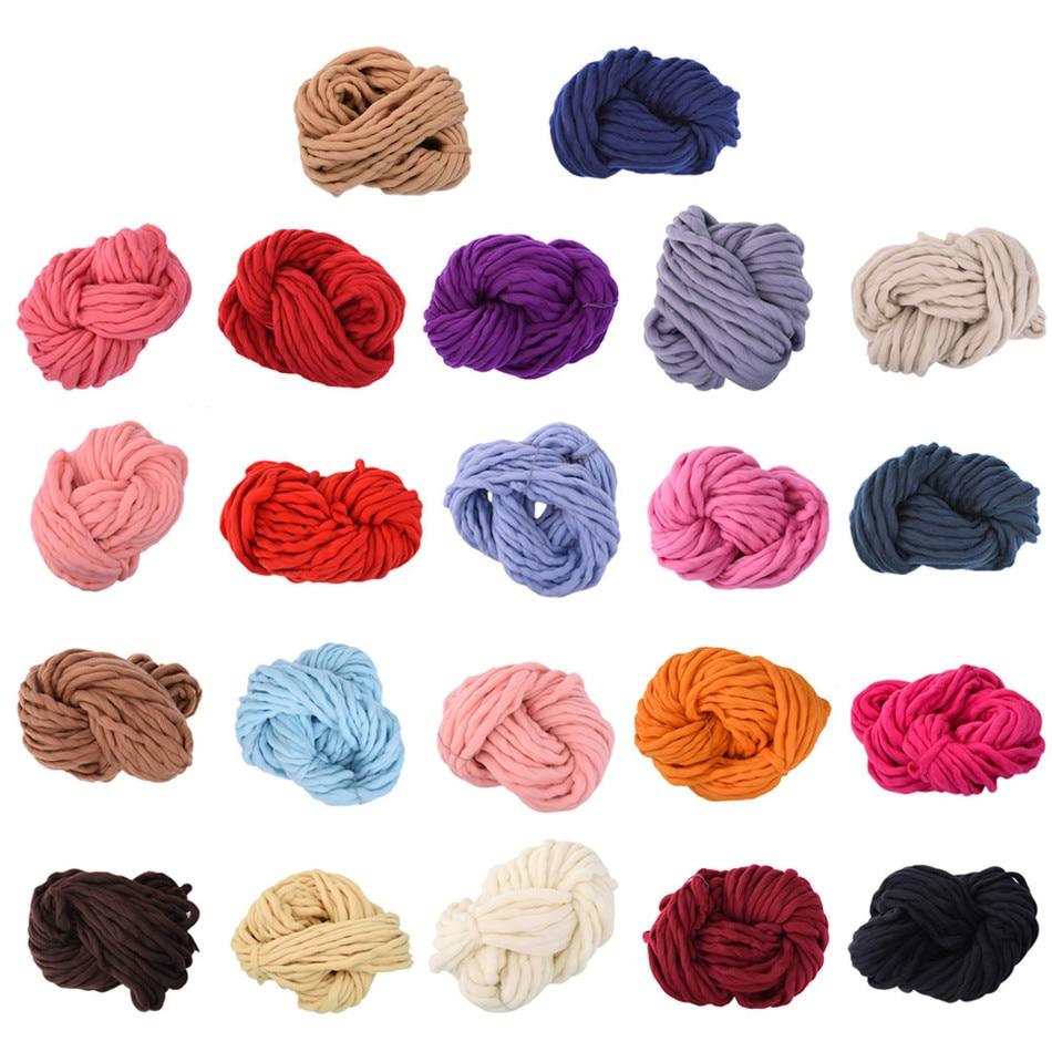 Thread where to buy ice picks in bulk - Soft Knitting Wool Yarn Roving Bulky Spinning Super Thick String Chunky Hand Knitting Thread Crochet Yarn