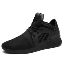 2017 Fashion Casual Shoes Men Spring Summer Soft Breathable Lightweight lace up Male Shoes Black Brand Mens Sneakers Size 39-45