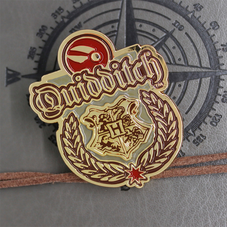 Hogwarts Quidditch Captain Of Gryffindor Medal Pendant Pin Badge Keychain Necklace Halloween Cosplay Accessory Kid Birthday Gift