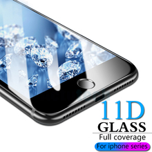 9H HD full coverage tempered glass for iphone 7 8 6s plus screen protector 6 film