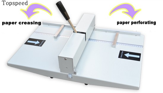 Manual paper creasing machine and perforating machine 2 in 1 combo 340mm New 2017 new manual rotary paper cutter trimmer 310mm 20sheets paper cutting and perforating double function new design