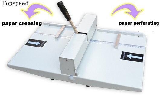 Manuel papier rainage machine et machine de perforation 2 en 1 combo 340mm Nouveau