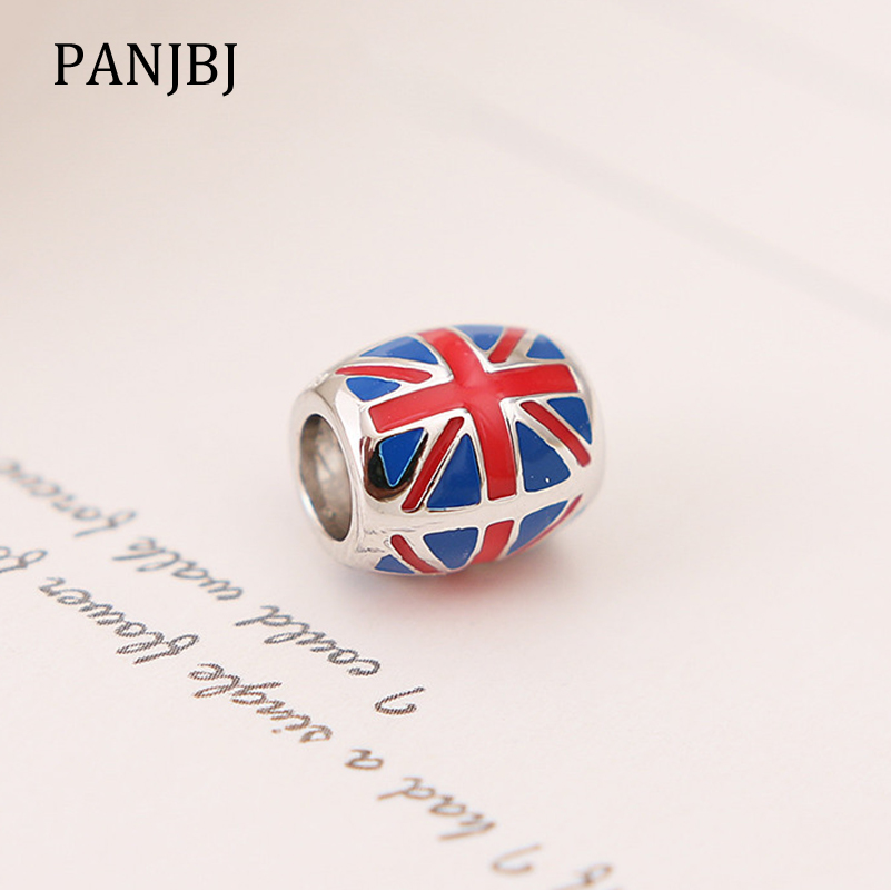 825459201 Detail Feedback Questions about New 100% 925 Sterling Silver Beads Charm  Britain England UK Flag Enamel Charms Fit Pandora Bracelets Necklace Women  Diy ...