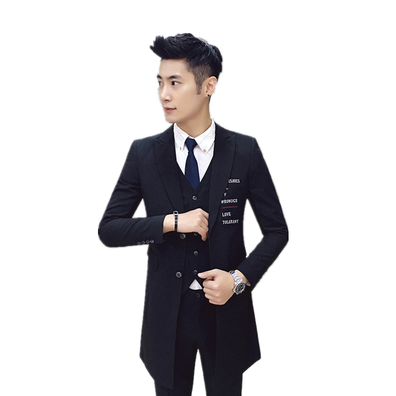 Fit Mode Couleur Black Sian white Pure Pièces Trois Mogu Haute Slim Qualité De Pour Costumes Taille Vêtements Hommes Costume Nouvelle wPFUqpX