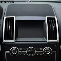 TOMEFON 6 cái Cho Land Rover Freelander 2 LR2 2012-2015 Sport Chrome Bên Trong Một/C Air Condition Vent Outlet Bezel Bìa Molding Trim