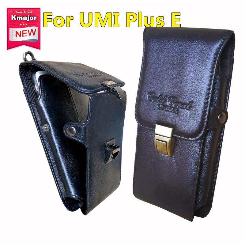 Mężczyźni Oryginalne Skórzane Etui Telefon komórkowy Dorywczo Ultra Cienki Pionowy Phone Case Phone Holder dla UMI Plus E 5.5