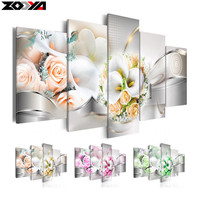 Zhui Star 5d Diy Diamond Embroidery Rose Orchid Diamond Painting Cross Stitch Full Rhinestone Mosaic Multi