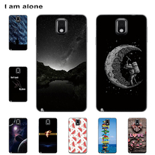 I am alone Phone Cases For Samsung Galaxy Note 3 N9000 5.7 inch Hard Plastic Bags Mobile Cellphone Fashion Color Free Shipping cool protective plastic tpu case for samsung galaxy note 3 n9000 white black