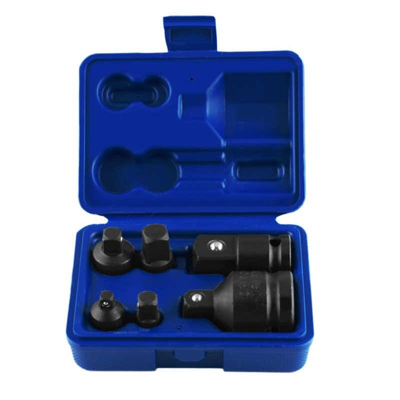 6Pcs/Set Hand Wrench Tool Set Impact Socket Adaptor Reducer Adapter 1/4 1/2 3/8 3/4 Ratchet Breaker Drive