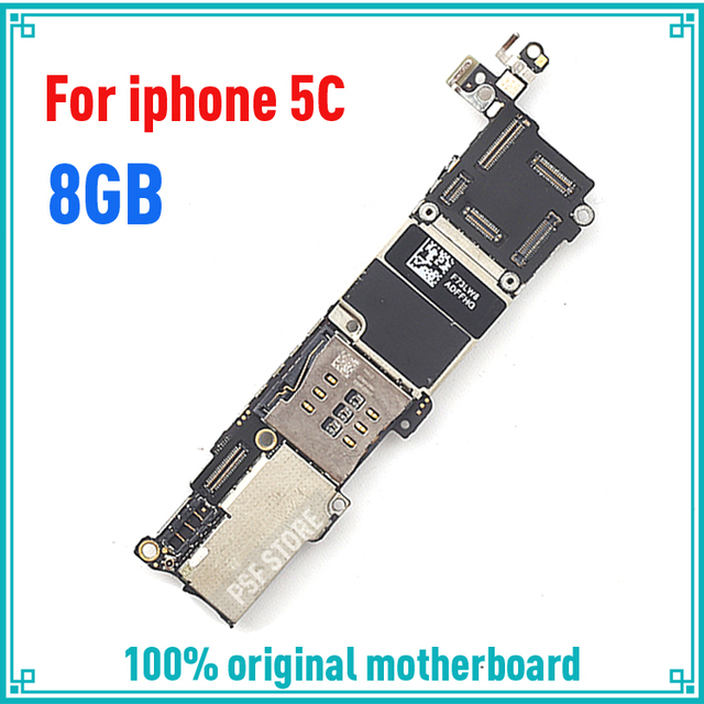 Factory unlock main plate for iphone 5C 8GB 100% original motherboard for  Apple 5C mainboard IOS system logic board-in Mobile Phone Antenna from