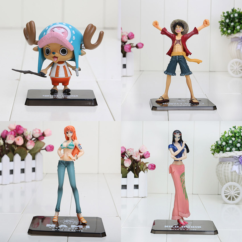 Action & Toy Figures 6-16cm One Piece Figure After 2 Years Monkey D Luffy Nami Chopper Nico Pvc Action Figure Collection Model Toy Excellent In Cushion Effect