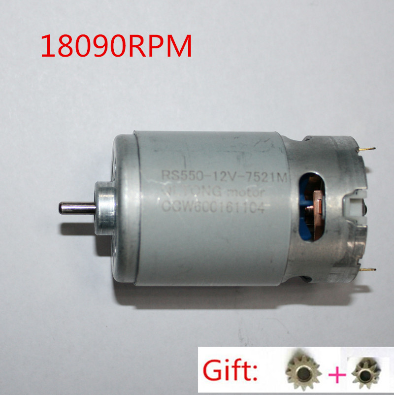 Motor Rs 550vc Dc 12v 18090prm Replacement For Bosch