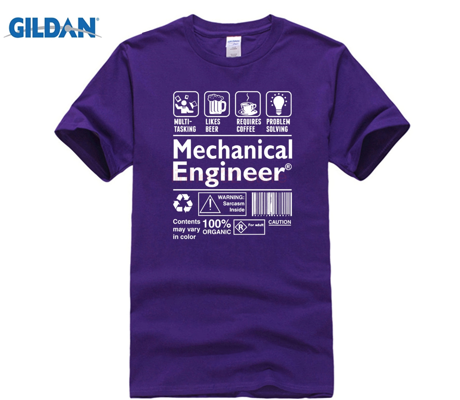 Printed T Shirt Cotton T Shirt New Style Mechanical Engineer