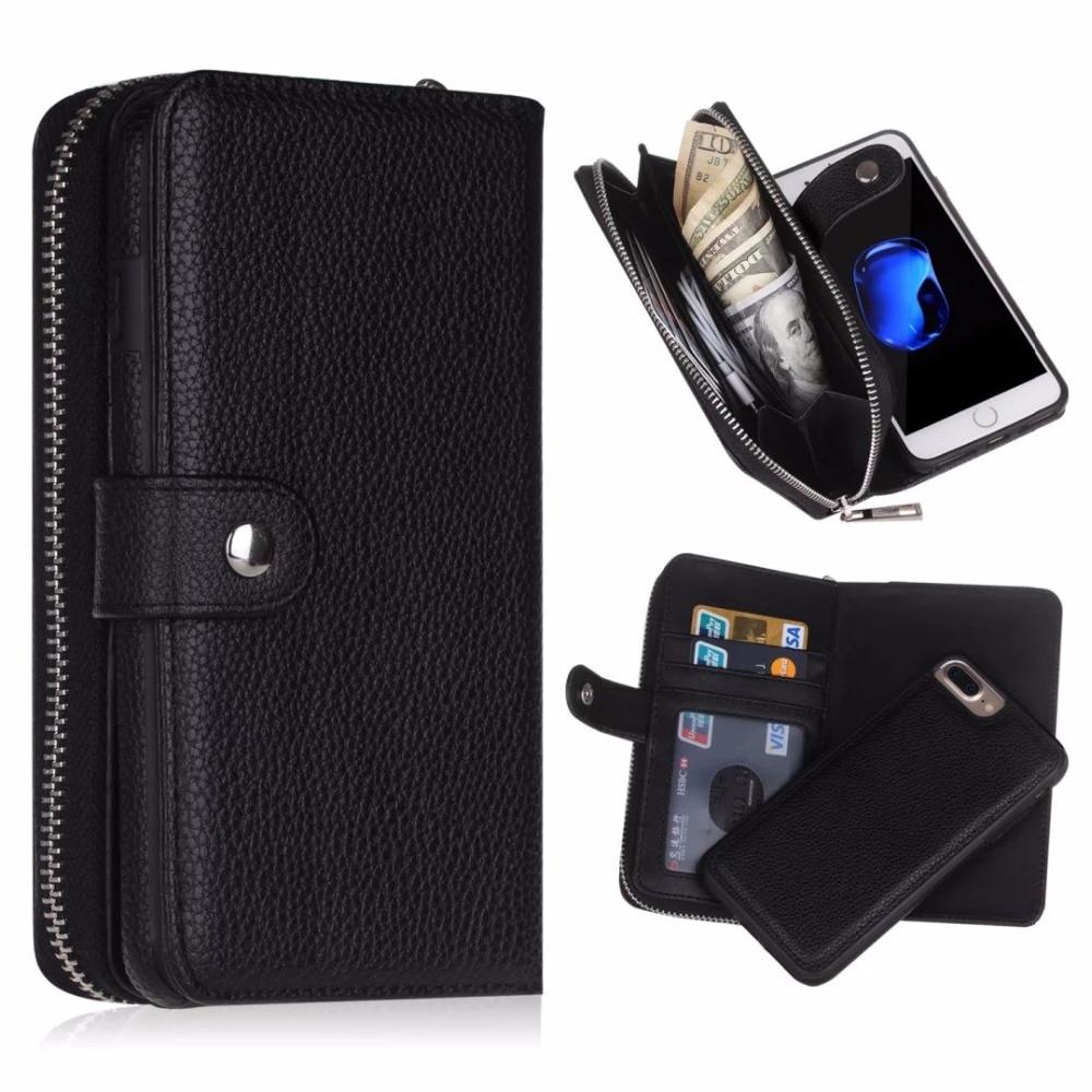 bilder für Luxus 2 in 1 flip leder case sfor fundas iphone 7 case für iphone 7 plus handy brieftasche tasche abdeckung coque Capa