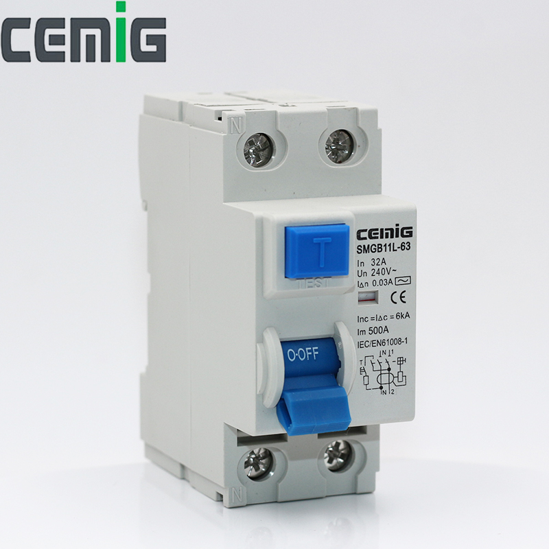 Cemig RCCB 16A-63A Miniature Leakage Circuit Breaker MCB Overload And Short-Circuit Protection SMGB11L-63 2P Cemig RCCB 16A-63A Miniature Leakage Circuit Breaker MCB Overload And Short-Circuit Protection SMGB11L-63 2P