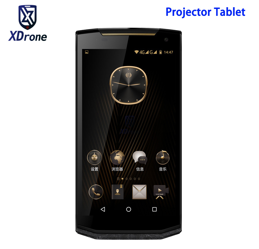 Original VM2 Android Tablet PC Projector Portable Business Luxury Tablet Computer Leather 5.9