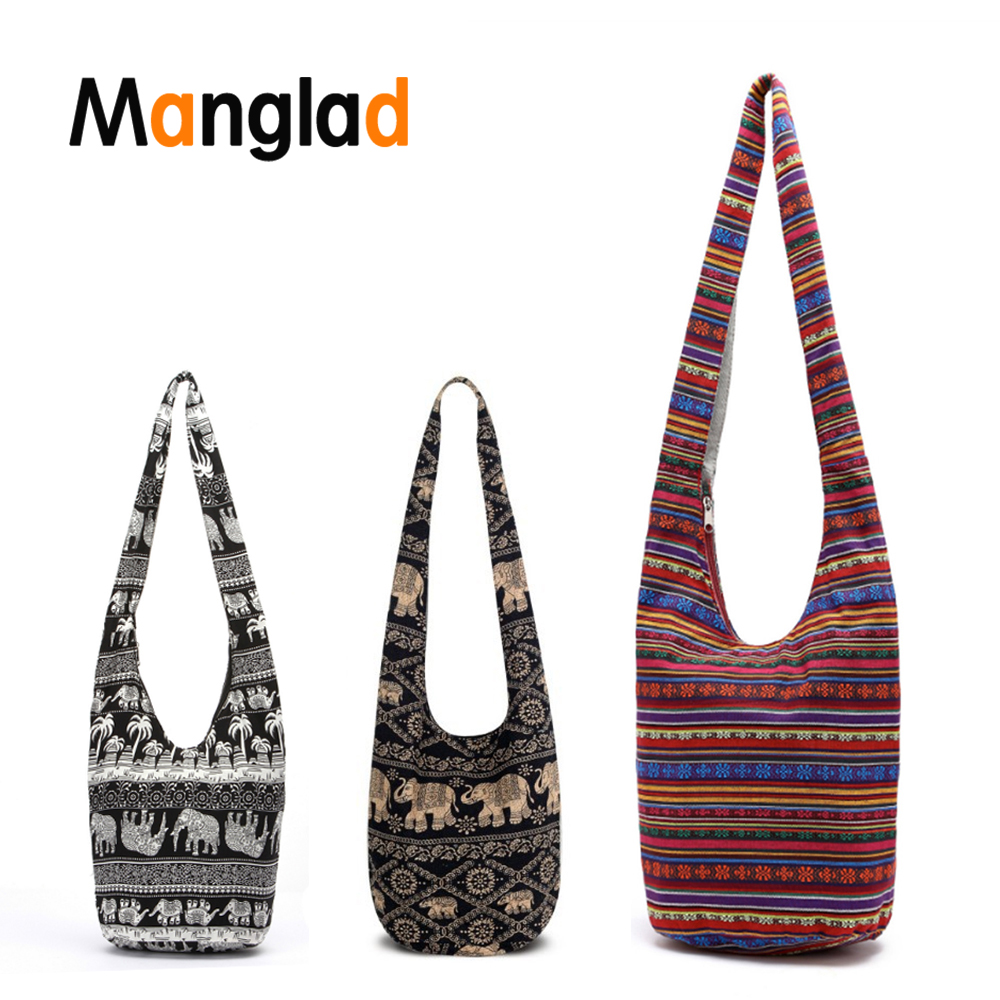 Bohemian Women Hippie Shoulder Bags Fringe Large Purse Ethic Tote Handbag Hipster Bag Thai Top Bag