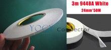 1 х 24 мм 3 М 9448A Белый Высокая Температура Сопротивление Двухместный Покрытием Лента для Сенсорного Pannel/Dispaly/экран Корпус