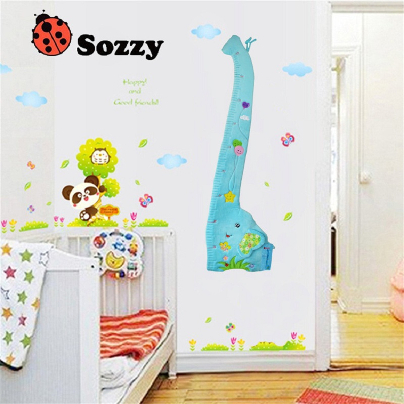 Sozzy Multifunction Animal Children Height Ruler Soft Placate 1.4 Meter Placate Bed Bumper Cute Animal Baby Toy