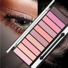1PC Professional 10 Color Eyeshaow Waterproof Smudge-Proof Easy To Glitter Matte Eye Shadow Palette
