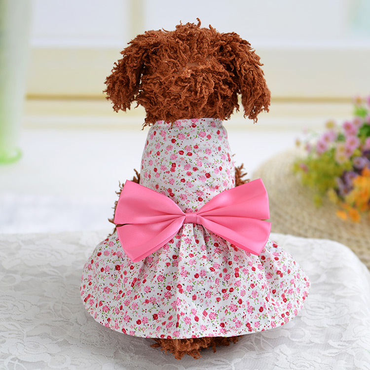 New 2016 summer dog clothes dog dress printing cute for Wedding dress for dog