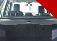 Aluminium alloy + Fabric Rear Trunk Security Shield Cargo Cover for Land Rover LR2 Freelander 2 2008 2014 car accessories
