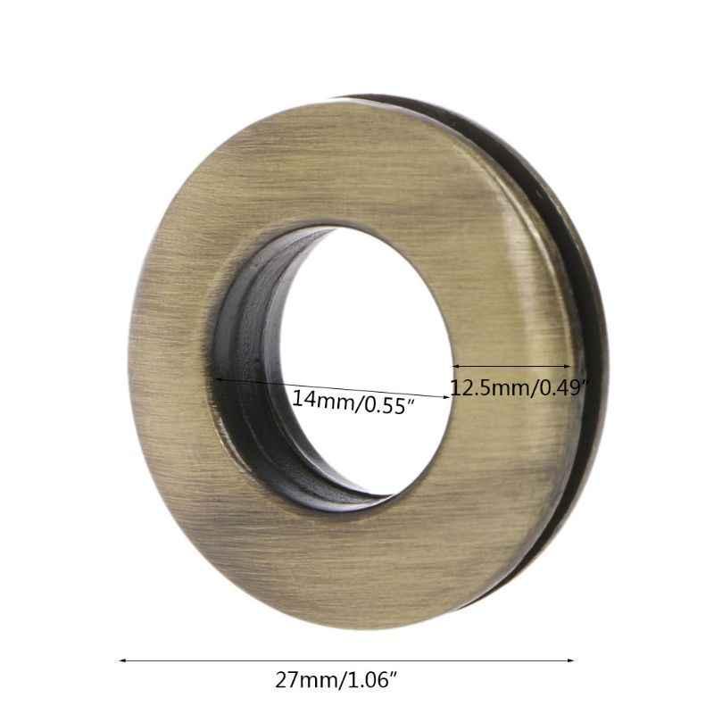 THINKTHENDO круглый форма металлическое кольцо с винтом для сумки кошелек сумка запчасти аксессуар сумки пряжки серебро/бронза/золото