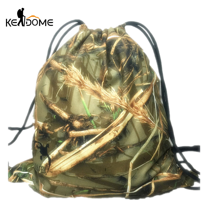 8f061c6ce4 Outdoor Sports Bags Camouflage Printing Drawstring Backpack Women Men  Multi-purpose Shoes Storage Waterproof Beach Bag XA199WD