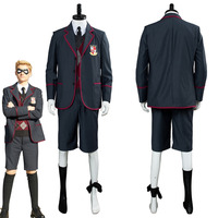 Child Kids The Umbrella Academy Cosplay Costume School Uniform Boy Children Halloween Carnival Cosplay Costumes