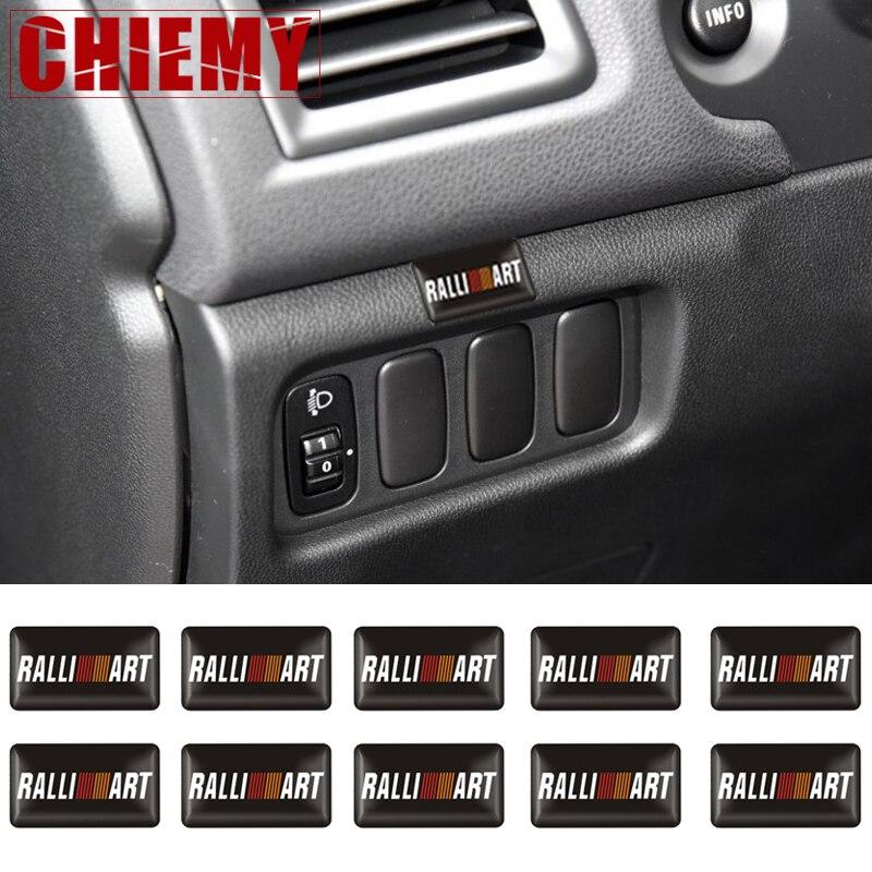 10 шт. 3D автомобильный Стайлинг Ralliart алюминиевая эмблема наклейка для Mitsubishi Asx Lancer Pajero Outlander L200 Delica Eclipse Galant