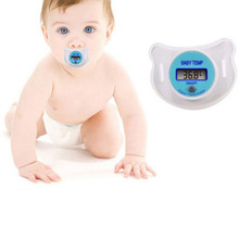 Practical Baby Nipple Thermometer Infant Pacifier LCD Digital Mouth Nipple Thermometer with Storage Cover Baby Kid