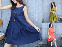 Linen Summer Maternity Clothes Maternity Dresses Nursing Clothes Nursing Dress Breast Feeding Dress For Pregnant Women