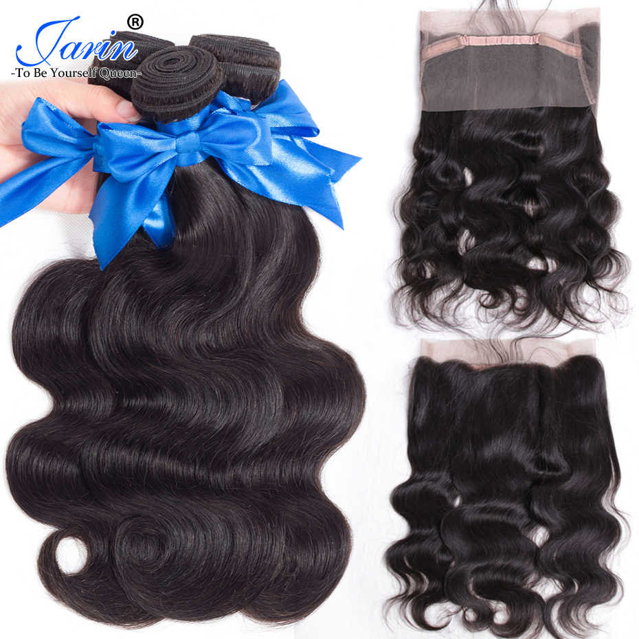 Jarin 360 Lace Frontal WIth Bundle Indian Body Wave Hair 3 Bundles With 360 Frontal Remy Human Hair Extensions Free Shipping