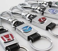 Car Key chain With LOGO 4S Store Dedicated, Wholesale Key Accessories, Leather Waist Buckle Alloy Enamel Craft Keychain,