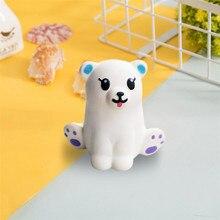 2019 crianças brinquedo mini adorável urso branco super lento levantando crianças divertido brinquedo stress reliever brinquedo presente d20z