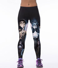 Fashion 3D Skeleton Bride Print Leggings Women Leggins Fitness Femme Workout Pants Elastic Jegging