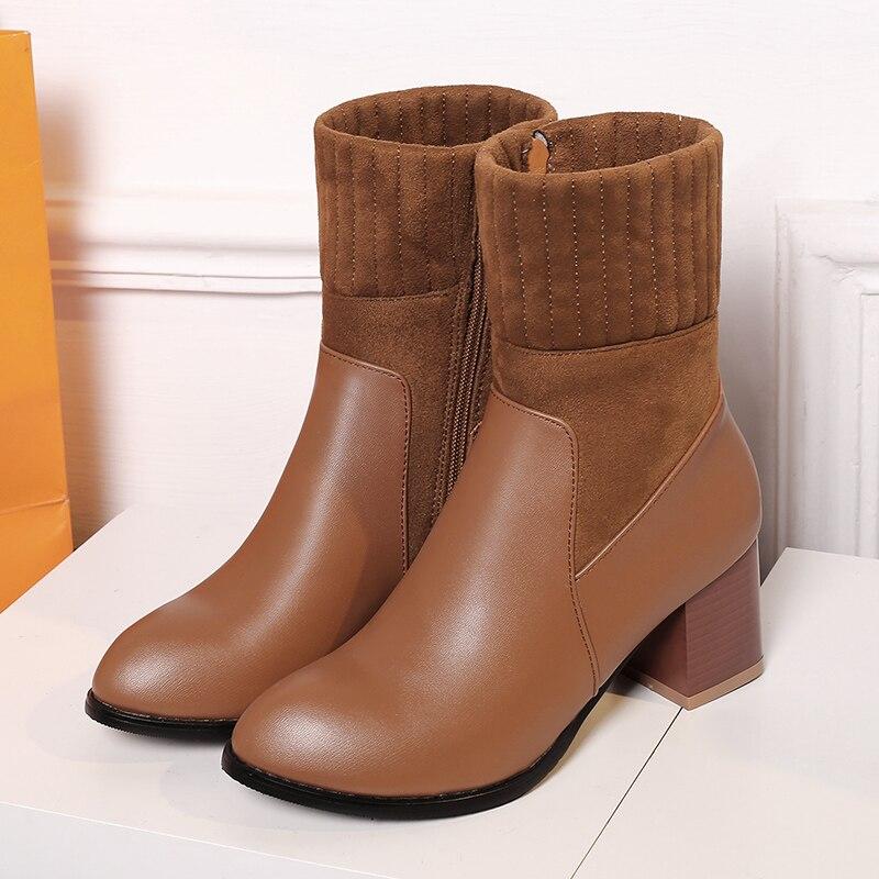 Big size 34-47 2016 Botas Mujer Winter Boots Shoes Woman Fashion Mulheres Martin  Inverno High-heeled  short Women Boots 116-9 shoes woman fashion motocicleta mulheres martin outono inverno botas de couro boots femininas botas women boots canvas 9302