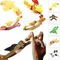 New Arrive Monkey Flying Slingshot Flying Plush Chicken Duck Screaming Novelty Fun Toys Kids