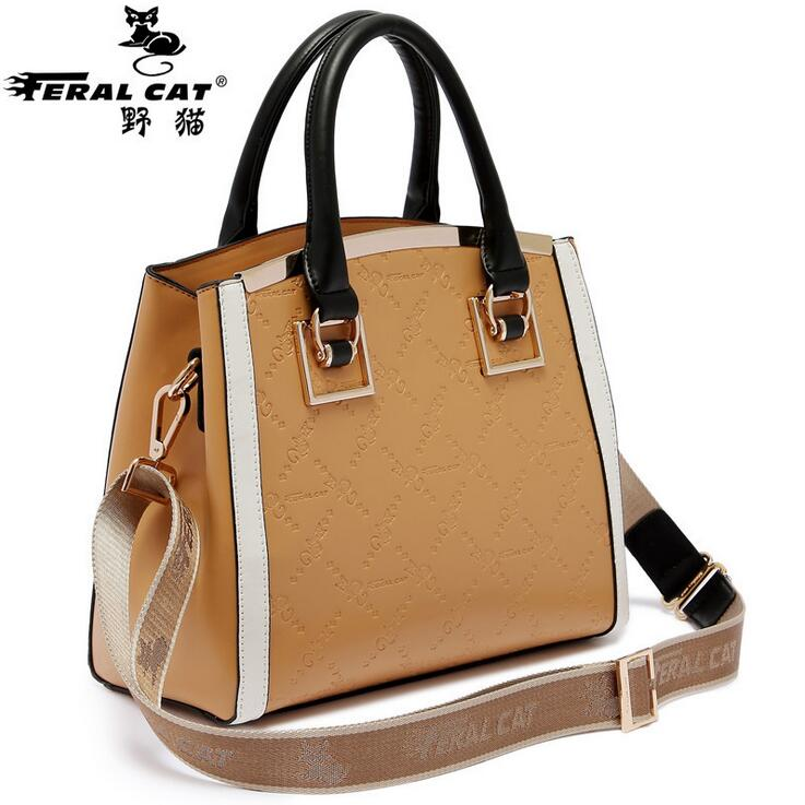 FERAL CAT New&Hot ! 2018 Fashion Casual Shoulder Bag Cross-body Bag Small Vintage Women's Handbag Pu Leather Women Messenger Bag new casual business leather mens messenger bag hot sell famous brand design leather men bag vintage fashion mens cross body bag
